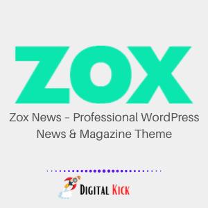 Zox News – Professional WordPress News & Magazine Theme